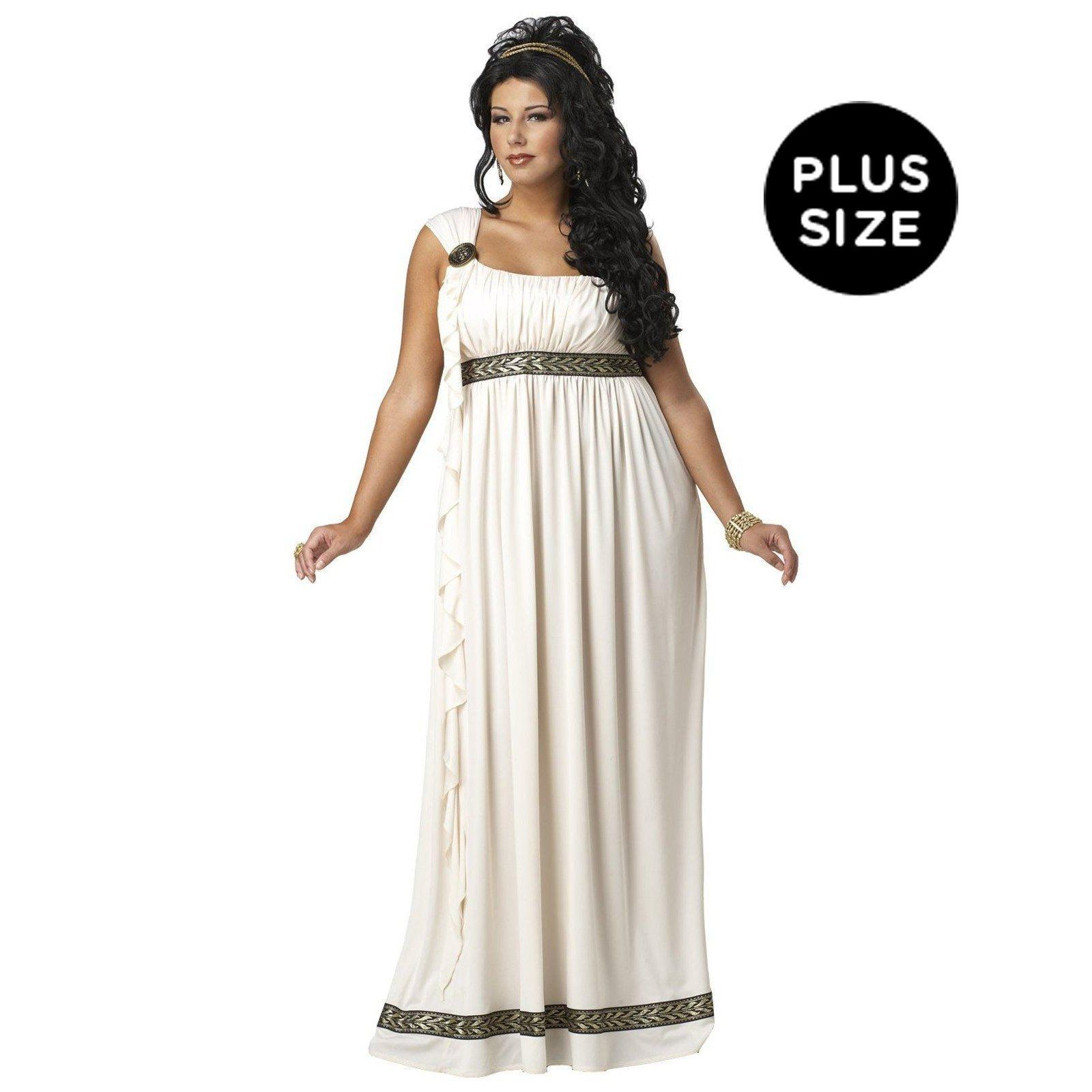 Plus size wedding dresses with red accents  Olympic Goddess Adult Plus Costume  Olympics Goddesses and Size