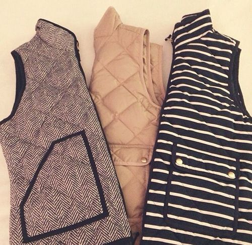 J Crew Vests LOVE all three of these. Definitely holiday contenders.