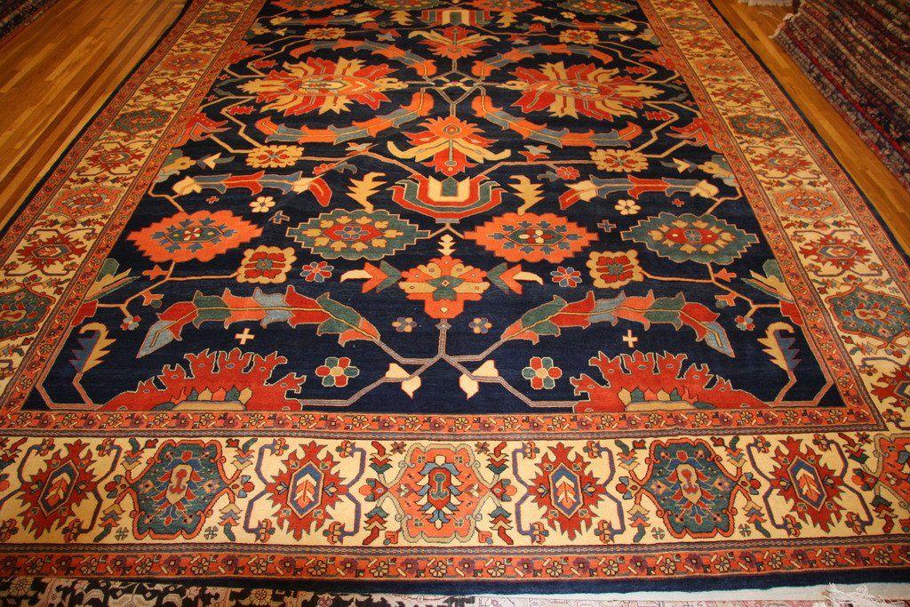 Serapi Heriz New 19x13 Persian Persian Iran Persian Rug