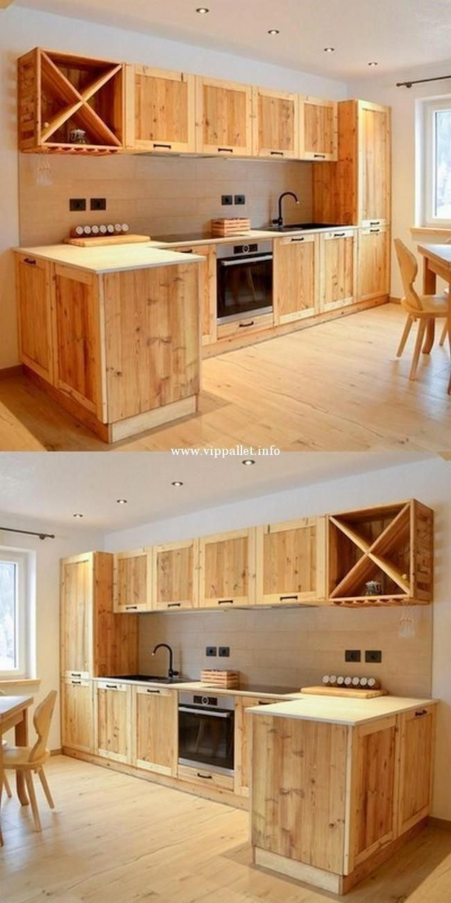 Repurposing Or Reusing Wood Based Pallets Into Indoors Or Outdoors Furniture Has Grown To Muebles De Cocina Rusticos Hacer Muebles De Cocina Muebles Con Palet