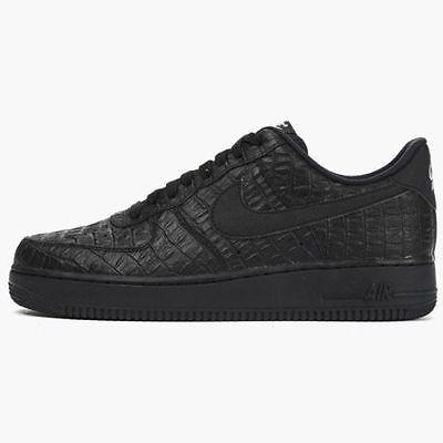 Nike Air Force 1 07 LV8 Mens 718152 007 Black Crocodile