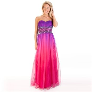 Blondie Nites Juniors Ombré Strapless Ball Gown | from Von Maur ...