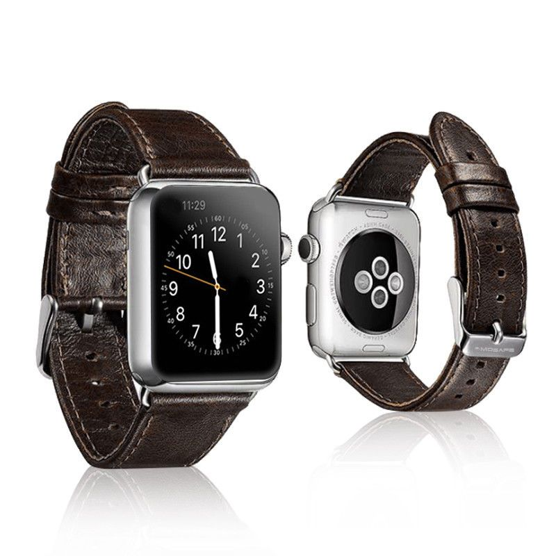 dff210fca79 Apple Watch Band Genuine Leather Strap Replacement 42mm 38mm iWatch Series  3 2 1  13.96 End