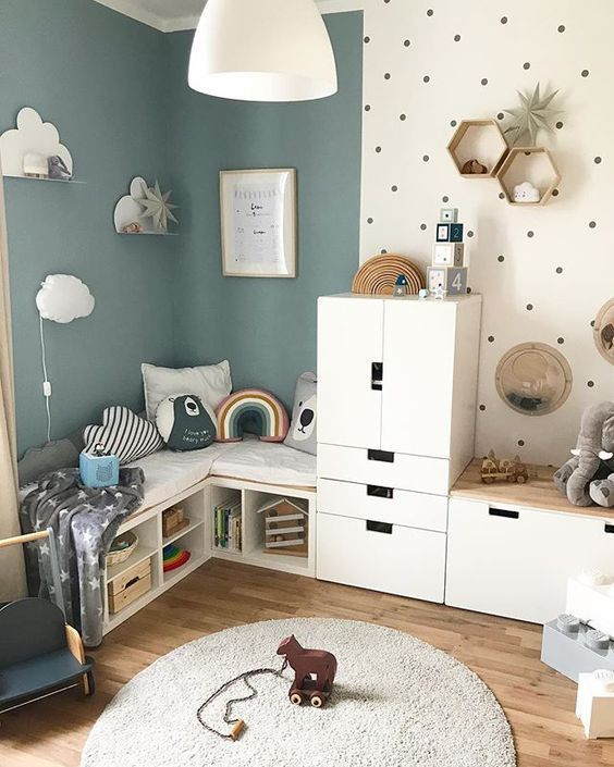 COLORFUL CREATIVE AND UNDENIABLY COOL KIDS ROOM  Page 46 of 67 Childrens Room Home Decoration Small Room Wall Painting Home Design Little Girls DIY Home StorageTable sett...