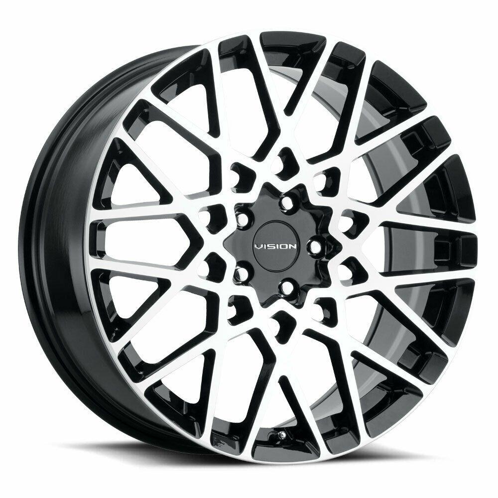 "17"" Vision 474 Recoil Gloss Black Machined Wheel 17x8"