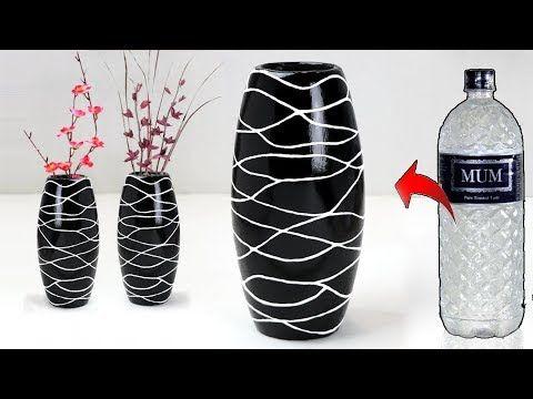 Plastic bottle flower vase || Pottery making বোতল দিয়ে ফুলদানী