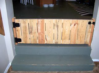 Diy Pallet Door Baby Gate Perfect For Those Extra Wide Stairs And