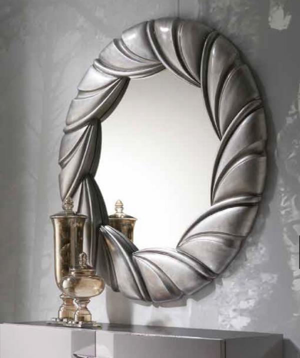 Agros, Circular Frame Mirror in Silver, White or Black Semi Gloss ...