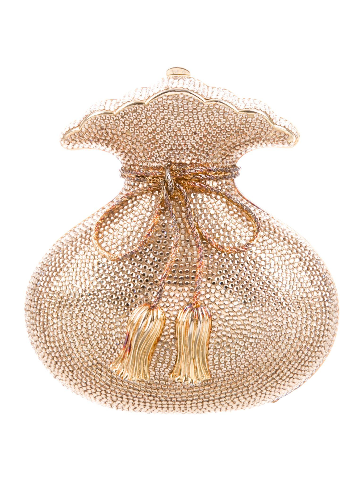 5b684d44007 GABRIELLE'S AMAZING FANTASY CLOSET | Gold-tone crystal embellished Judith  Leiber clutch bag with gold-tone hardware, single drop-in snake chain  shoulder ...