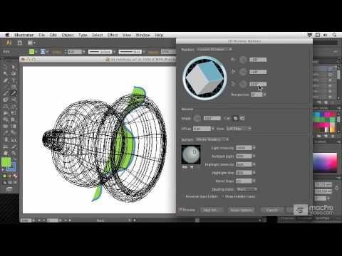 Illustrator CS6 105: 3D: Create 3D Objects - 4. Revolving a Shape - YouTube