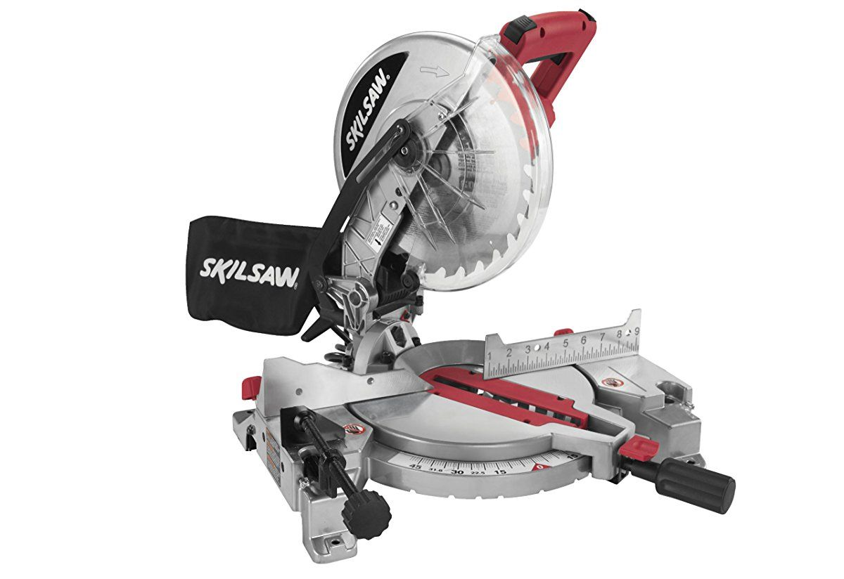 Skil 3317 01 10 Inch Compound Miter Saw With Quick Mount System And Laser Cutline Compound Mitre Saw Miter Saw 10 Inch Miter Saw