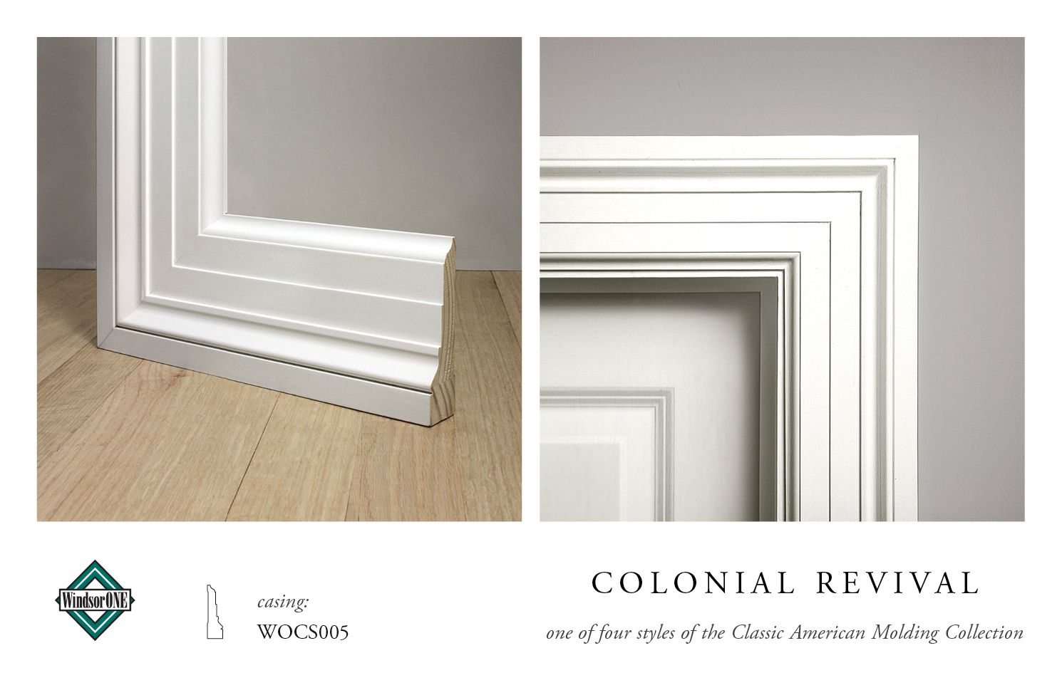 Windsorone colonial revival casing wocs005 part of the for Colonial trim molding