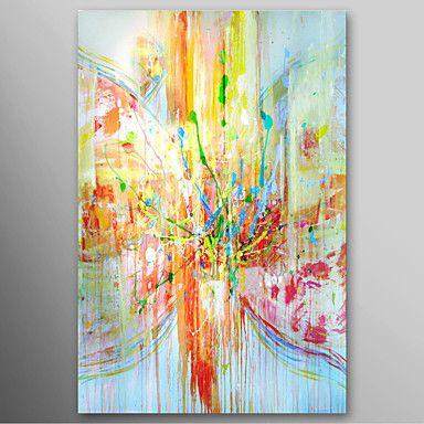 Hand geschilderd olieverfschilderij Abstract Regen Landschap met gestrekte frame klaar te hangen – EUR € 49.08