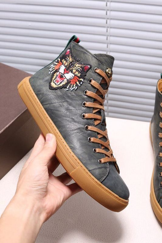 a93bc2bd4 Replica GUCCI Leather High-Top Sneaker With Tiger Size 38-44 ID 31433