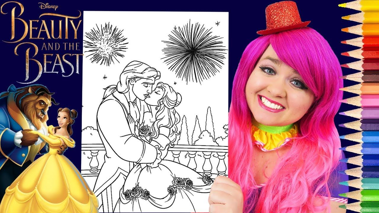 Coloring Beauty And The Beast Wedding Disney Coloring Page Prismacolor P Disney Coloring Pages Disney Princess Colors Disney Princess Coloring Pages