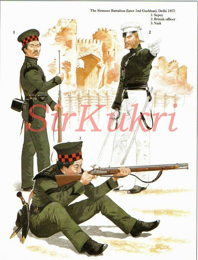 Sirkukri The Gurkha Soldiers Of The Sirmoor Battalion The Second Battalion Of Gurkhas That Was Raised The First Being The Nasiri Battalio Inde Japon Russie