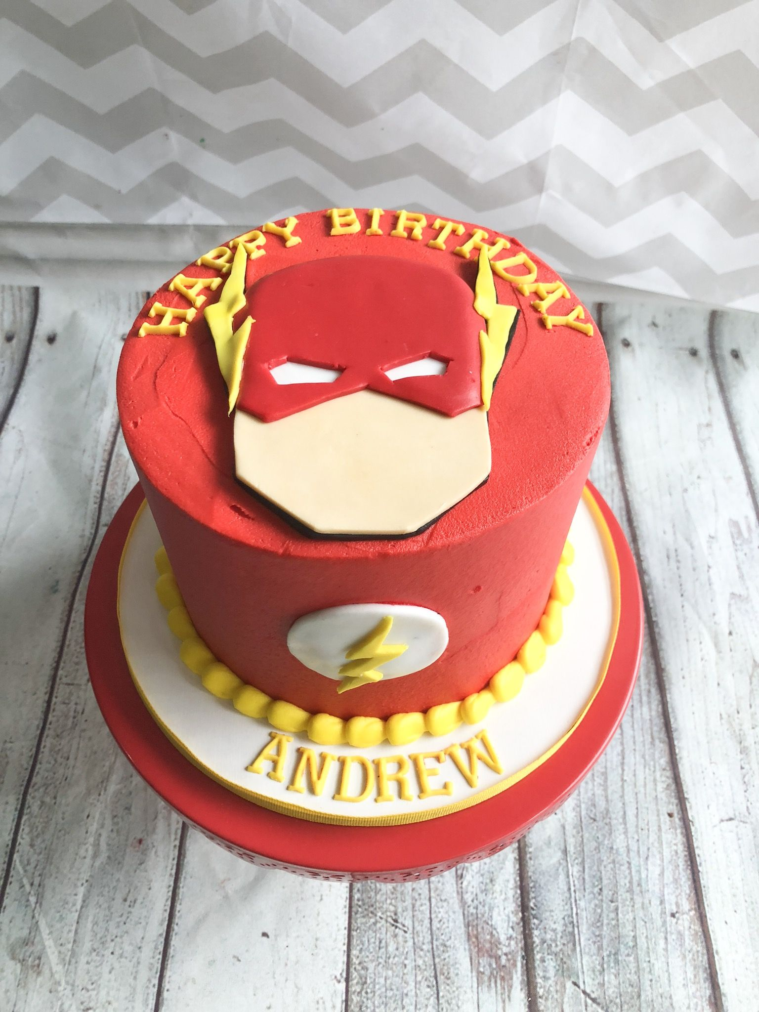 Custom superhero cake we made for a hero themed birthday