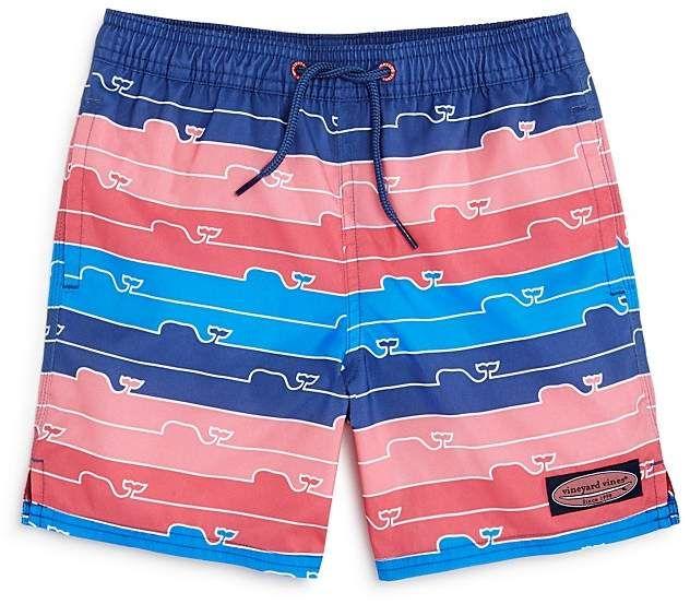522fe6454b Boys' Striped Whale-Print Swim Trunks - Little Kid, Big Kid  #pockets#seam#side