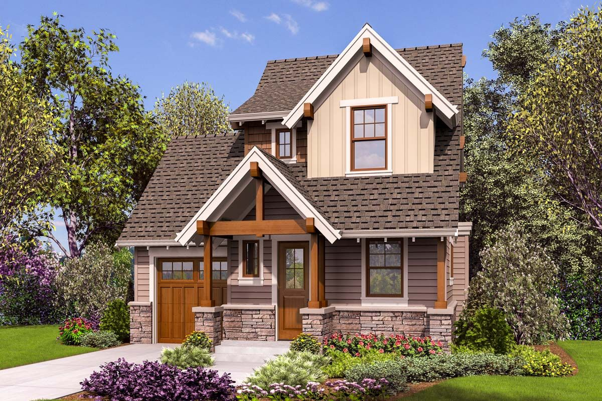 Plan 69654am Tiny Craftsman House Plan Cottage Style House Plans Craftsman Style House Plans Cottage House Plans