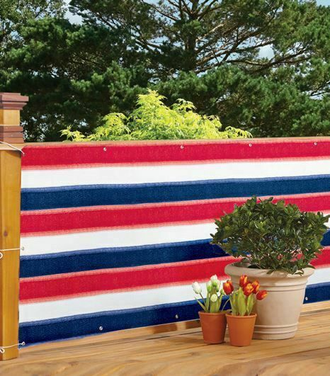 Americana Deck Privacy Netting Red White Blue Balcony Porch Private Patio Screen #Unbranded #balconyprivacyscreen