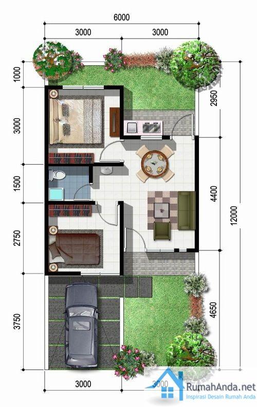 Desain Rumah Minimalis Ukuran 6x15 gambar denah rumah minimalis sehat denah rumah desain