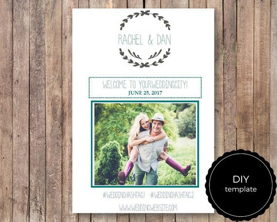 Wedding Weekend Itinerary Diy  Schedule Template With Photo  X