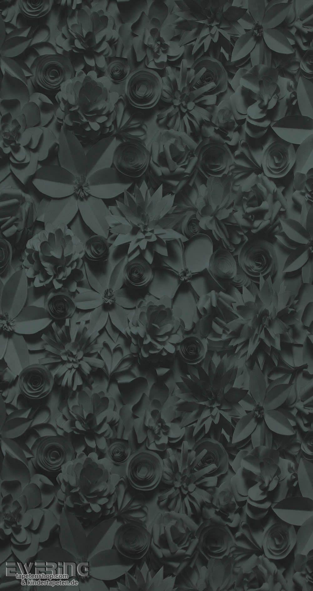 12 17342 Moods BN Tapeten Anthrazit Blüten Vliestapete Wohnzimmer