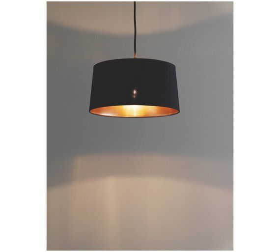 Buy habitat mini grande tapered lampshade black at argos co uk visit