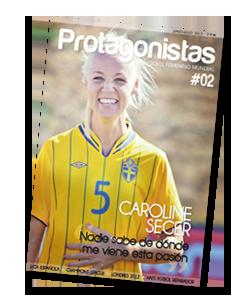 Caroline Seger (Sweden). Spanish magazine. Women's soccer.