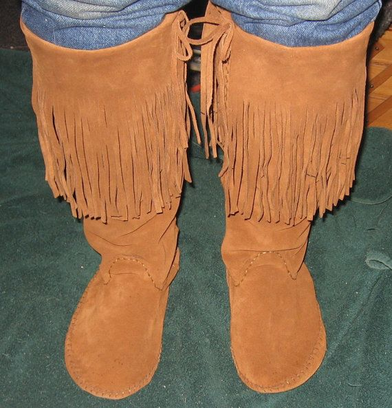Plains Style Boot Moccasins Handmade