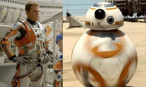 Wait. What? (Bb-8) : The Martian vs Star Wars