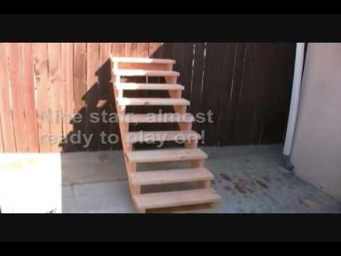 holztreppe selber bauen einfache anleitung und tipps garden pinterest. Black Bedroom Furniture Sets. Home Design Ideas