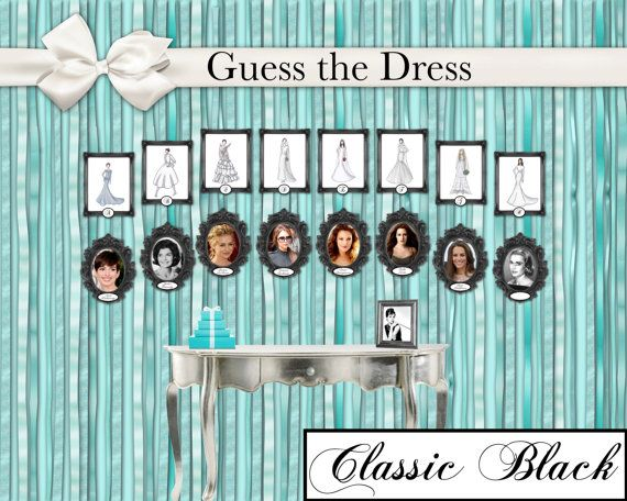 New Unique Modern Classic or Shabby Chic Bridal Shower Game by 0InsideOut  $20 #uniquegame #newbridalshower #offbeat