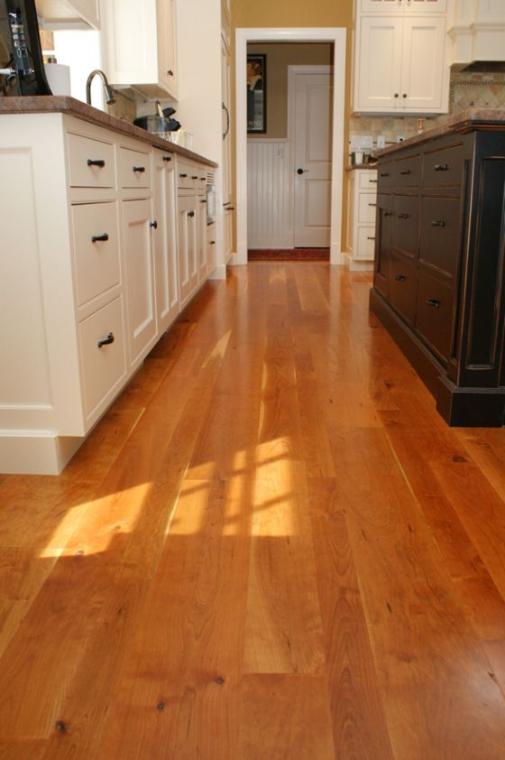 American Cherry Natural Grade Wide Plank Flooring Features