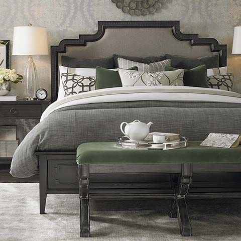 Emporium Upholstered Bed | Muebles, Gris y Carbón