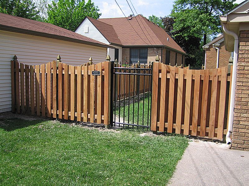 Wrought Iron Gate Wood Fence House Paint Exterior Fence Design Wooden Fence