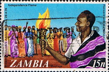 Postage stamps of Zambia 1974 President Kaunda SG 210 Fine Used Scott 119  Other Zambia Stamps HERE