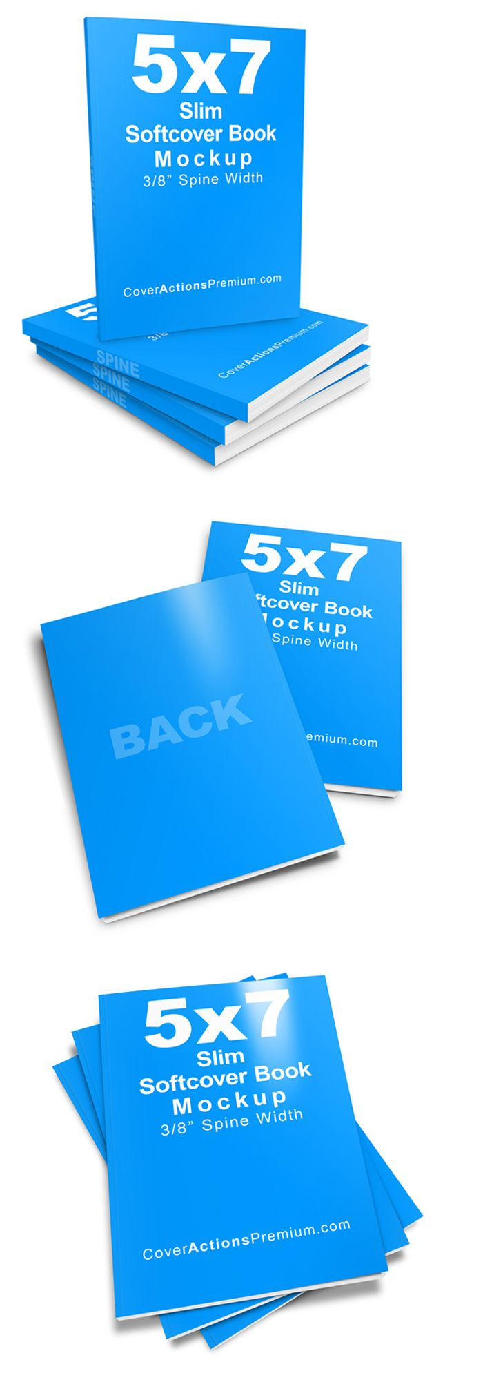 Download Slim 5x7 Softcover Book Mockup Cover Actions Premium Mockup Psd Template Psd Templates Mockup Books PSD Mockup Templates