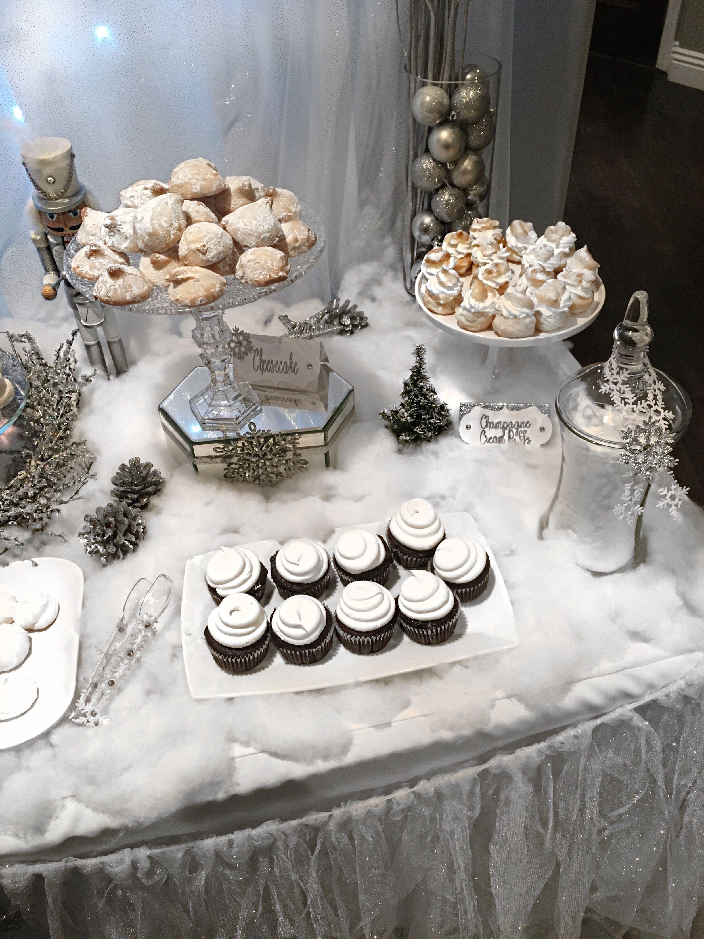 White Christmas Party Ideas Part - 39: All White Christmas, Winter Wonderland, Winter Wonderland Dessert Table, White  Christmas, Winter