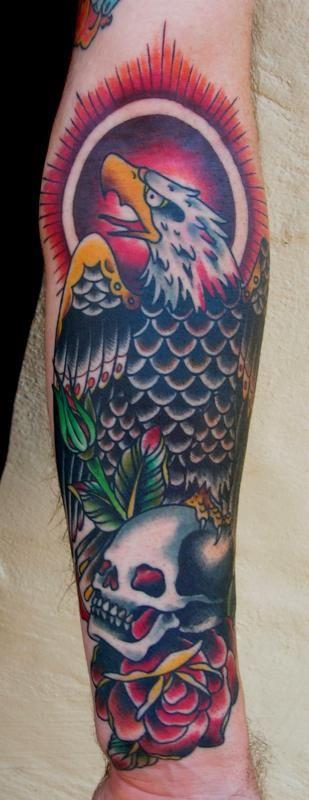 American Traditional Skull And Eagle: Traditional Eagle Tattoo, Eagle Tattoo