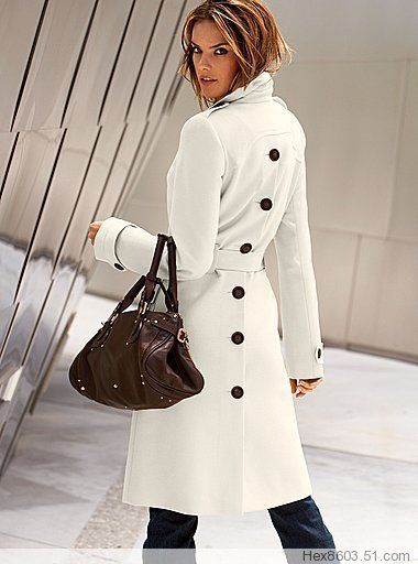 Hot Women S Wool Blend Military Trench Coat Belted Long