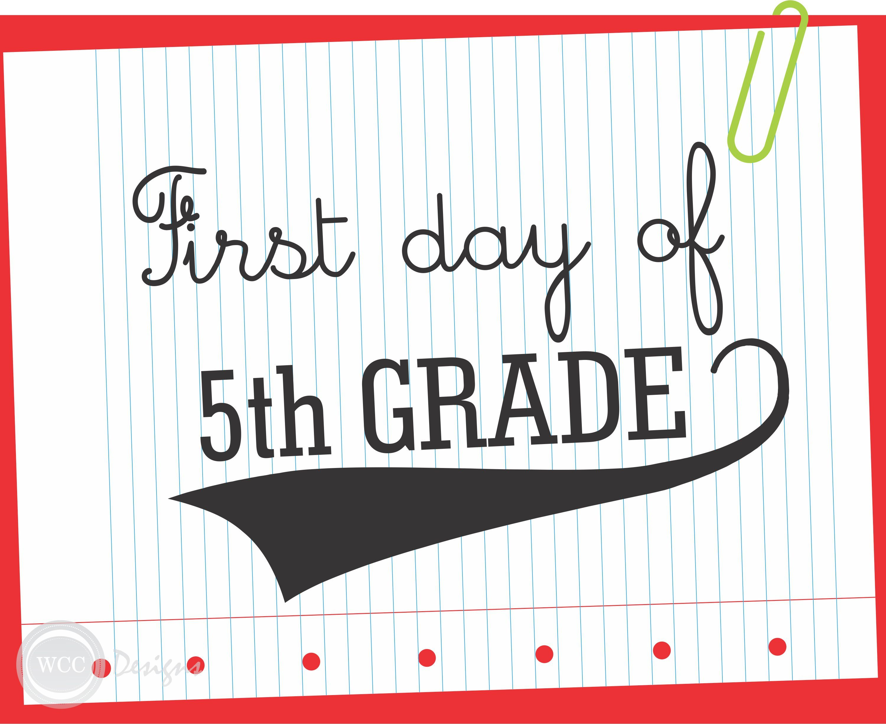 graphic regarding First Day of 5th Grade Printable named cost-free-printable-1st Working day OF 5TH Quality-indicator clroom suggestions