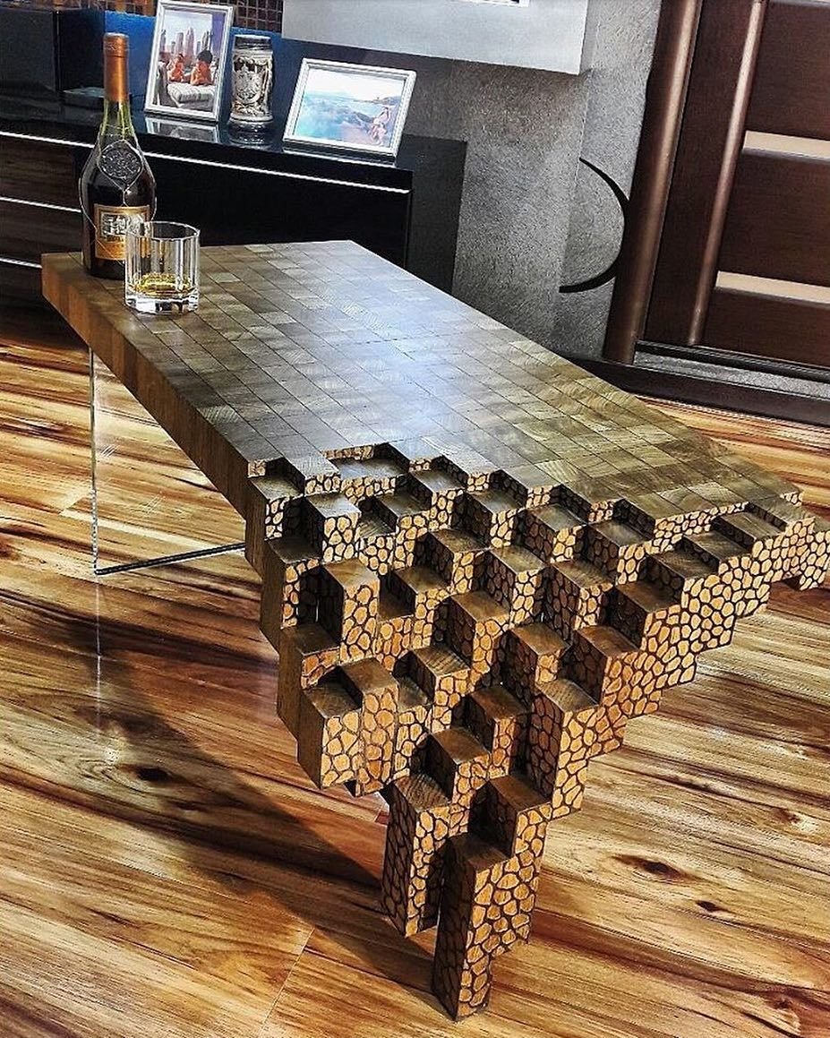 7 996 Likes 48 Comments Product P Roduct On Instagram Falling Brick Coffee Table By Kyle Toth P Rodu Woodworking Creative Furniture Furniture Design [ 1159 x 927 Pixel ]