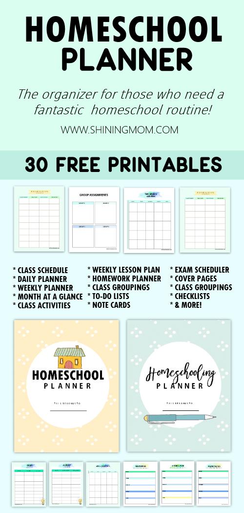 The Ultimate Free Homeschool Planner 30 Printables Free Homeschool Printables Homeschool Lesson Planner Homeschool Planner Free
