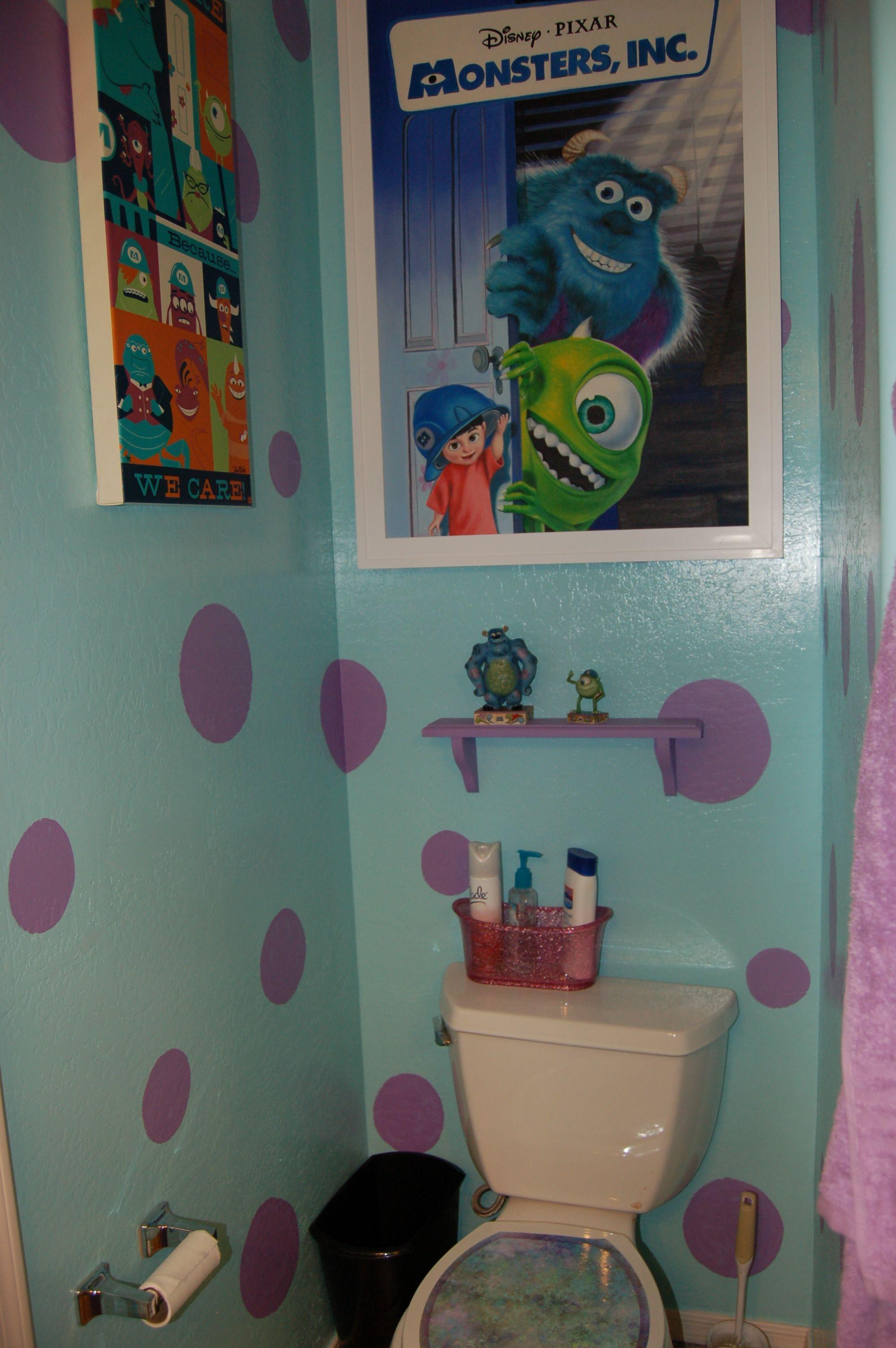 Disney Monsters Bathroom Decorating