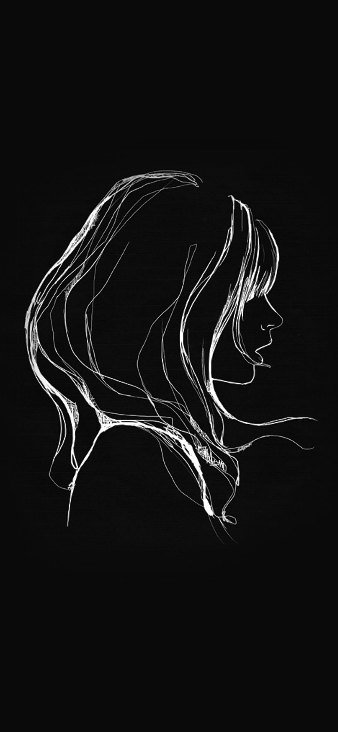 Iphonexpapers Com Apple Iphone Wallpaper Az88 Drawing Simple Minimal Girl Illustration Art Dark Darkiphonewallpaper Dark Wallpaper Iphone Simple Phone Wallpapers Apple Wallpaper Iphone