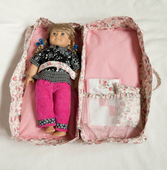 American Girl Doll Case Travel Bed Also Made A Matching