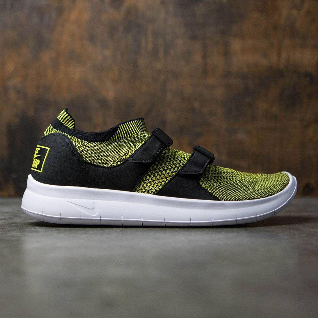 100% authentic 71e91 f768b Nike Men Air Sock Racer Ultra Flyknit (yellow   yellow strike-black)