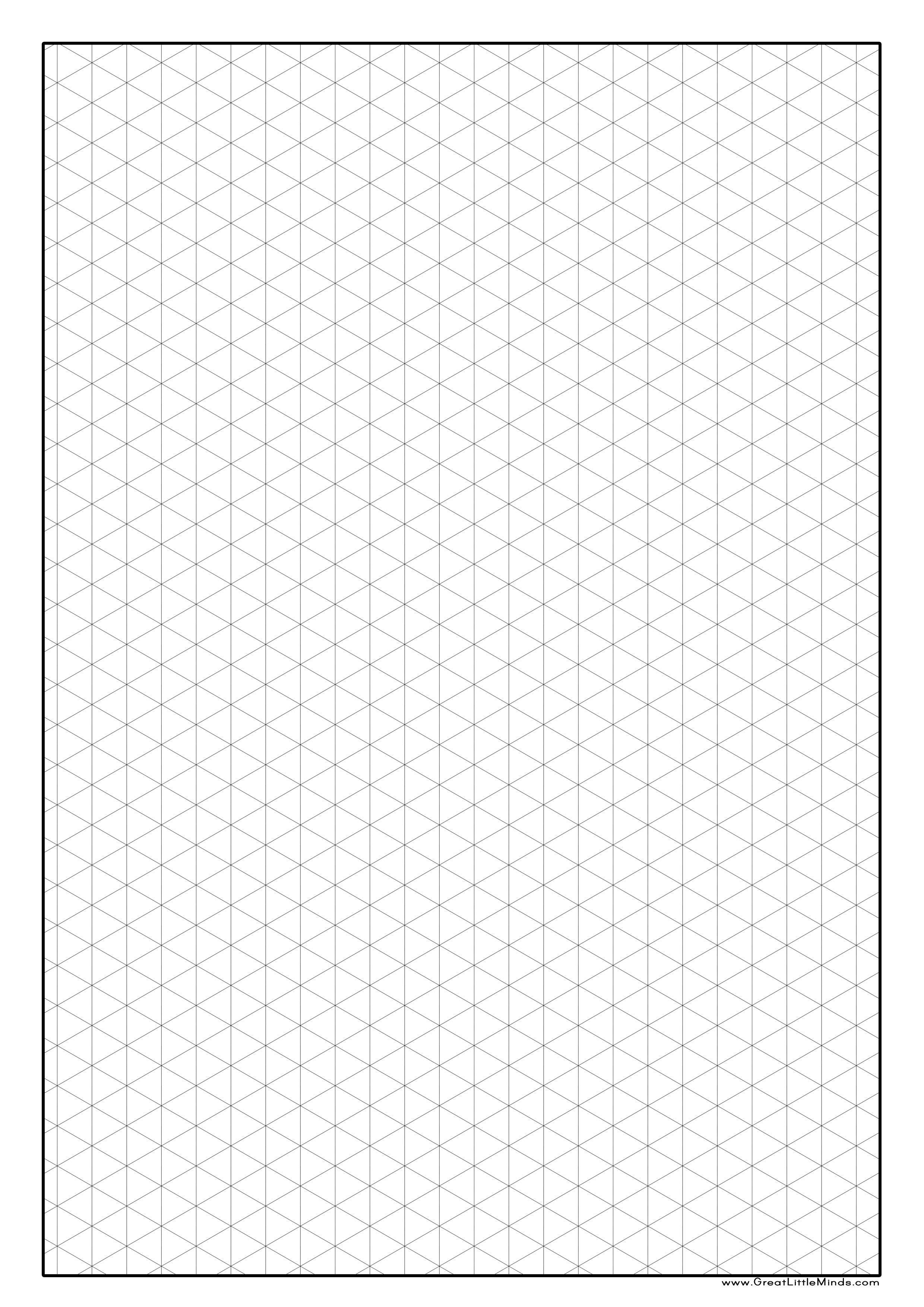 Printable isometric graph paper isometric paper