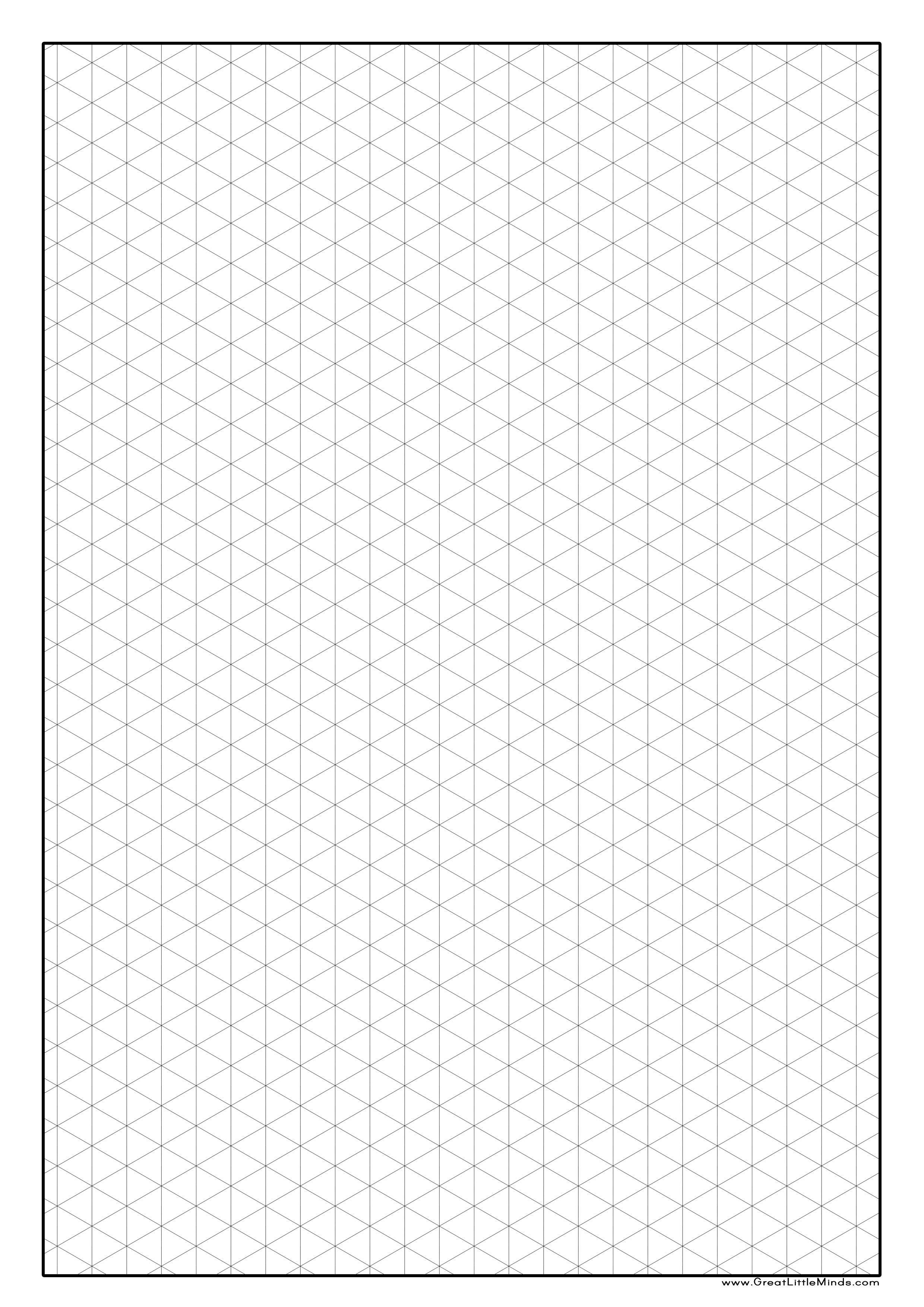 Printable Isometric Graph Paper Isometric Paper Isometric Grid Isometric Graph Paper